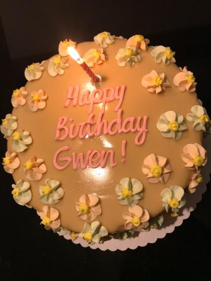 Estrels, carsmel cake, birthday cake