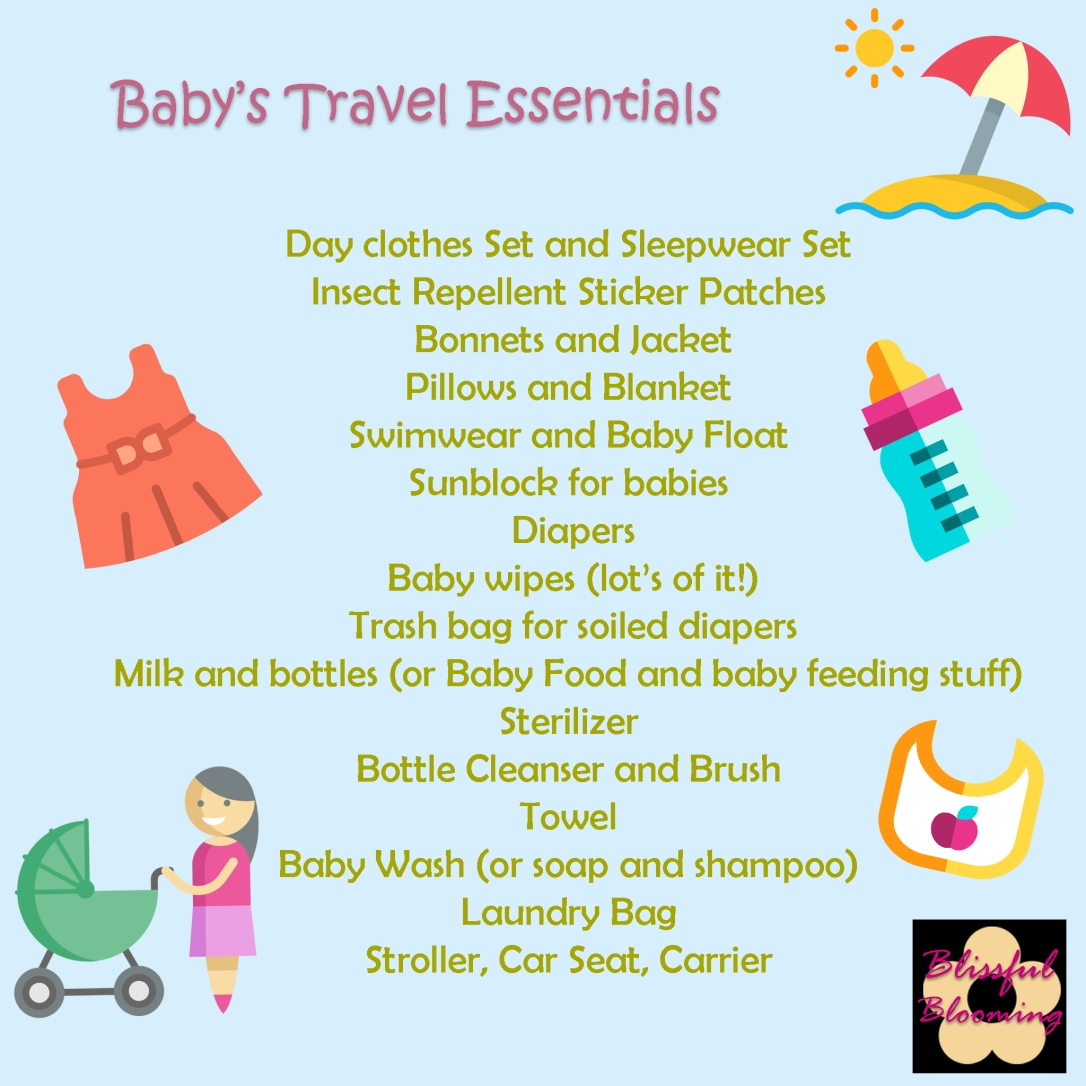 Baby travel essentials, baby travel bag, baby out of town stuff, packing baby travel bag, mustela sunscreen for babies, baby travel ph, mom blogger Philippines, millennial mom philippines, baby travel checklist