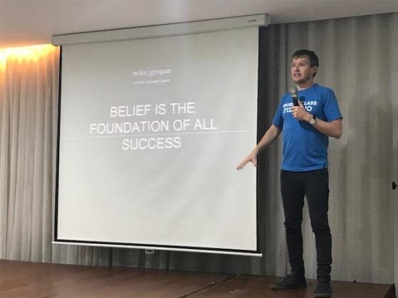Mike Grogan, motivational speaker
