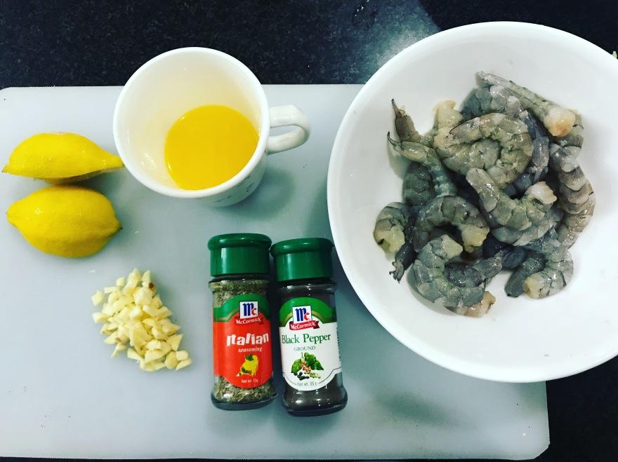 Baked butter garlic shrimps