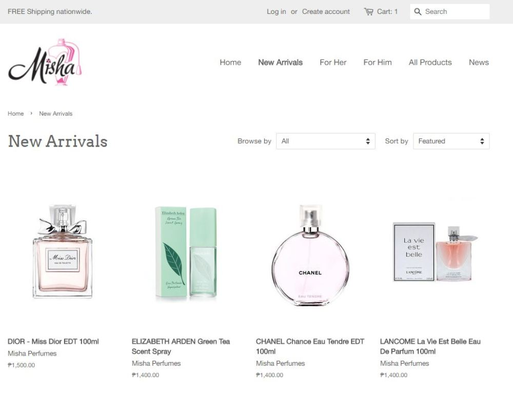 misha perfumes, affordable branded perfumes philippines