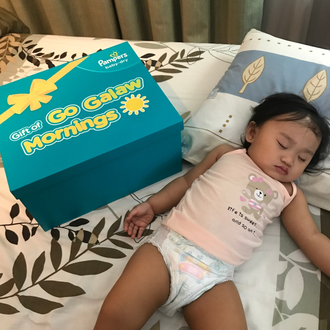 pampers baby dry, pampers less lawlaw go galaw, pampers go galaw mornings, pampers diapers, pampers ph, mom blogger ph, millennial mom ph