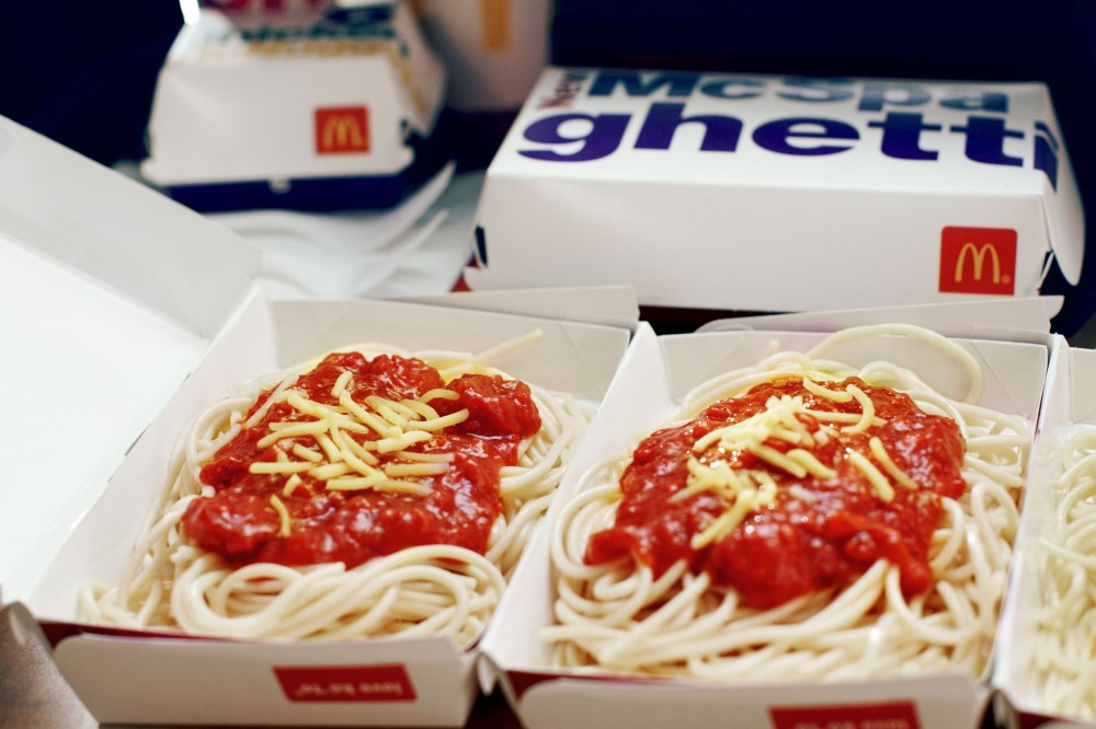 mcspaghetti, meatier and cheesier, new and improved mcspaghetti, mcdonalds ph