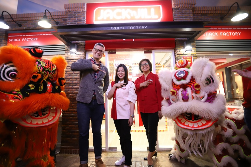 KidZania Manila content manager Ikey Canoy, URC Jack 'n Jill senior brand manager Ivy Tan and KidZania Manila sales director Cecille Marino
